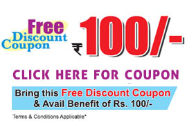 Rs. 100 Discount Coupon